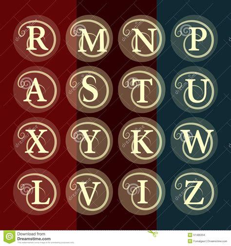 v i s u a l s templates simple and graceful floral monogram design template