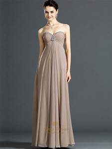 champagne sweetheart empire chiffon bridesmaid dresses With evening wedding dress
