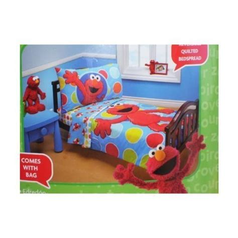 elmo toddler bedding sesame elmo 4 toddler bedding set furniture