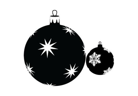 christmas bauble silhouette vector