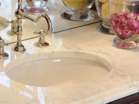 Marble Vs Granite Bathroom Countertops by Choosing Bathroom Countertops Hgtv