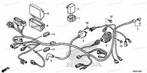 Honda Atv 2016 Oem Parts Diagram For Wire Harness  2