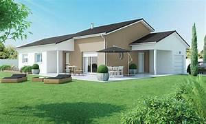 Maison Plain Pied En L : maison plain pied 4 chambres contemporaine ~ Melissatoandfro.com Idées de Décoration