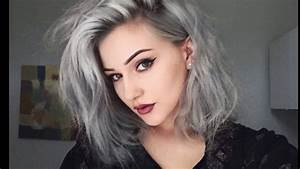 Haarfarbe Schwarz Grau : haarfarben silber wir f rben meine haare silber grau graphit graue haare makeover youtube ~ Frokenaadalensverden.com Haus und Dekorationen