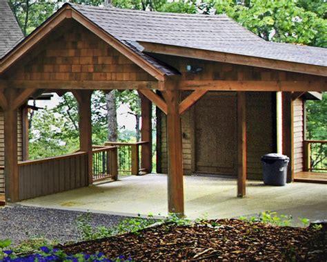 enclosed carport home design ideas pictures remodel  decor