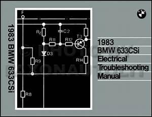 1983 Bmw 633csi Electrical Troubleshooting Manual Wiring