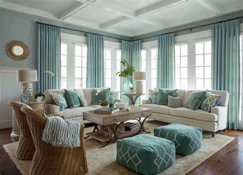 Aqua Living Room Furniture : Turquoise Coastal Living Room Design