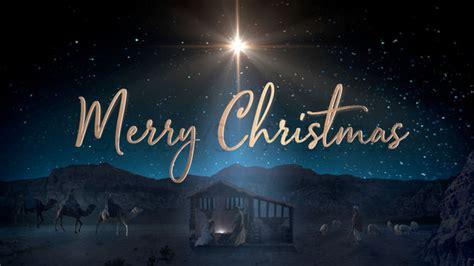 starry nativity merry christmas still background