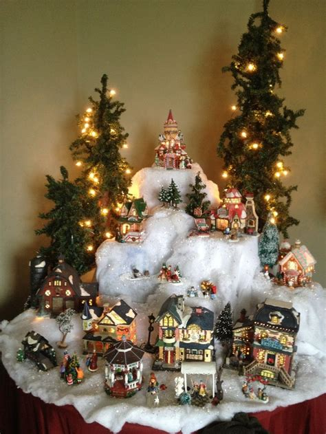 pin  kasi cruse  christmas village display ideas