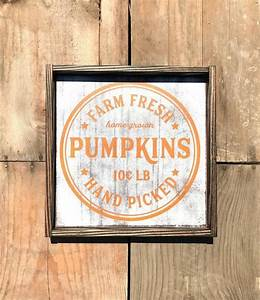 Farm, Fresh, Pumpkin, Patch, Fall, Wood, Sign