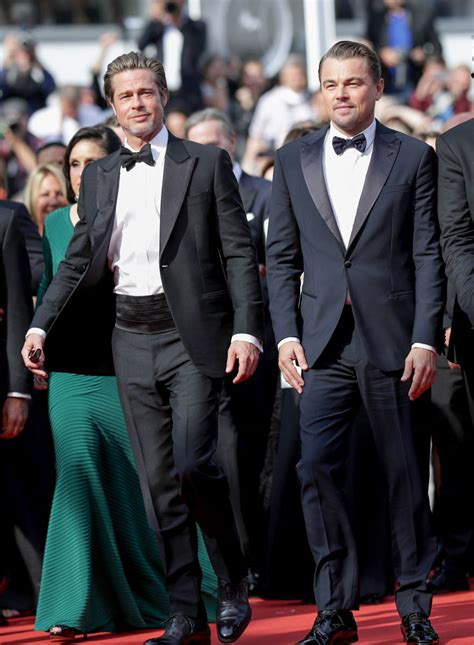 Brad Pitt And Leonardo Dicaprio Side By Side In Cannes As