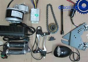24v 250w Electric Motorized E Bike Conversion Kit Side