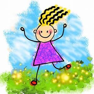 Happy Stick Girl Clip Art Free Stock Photo - Public Domain ...