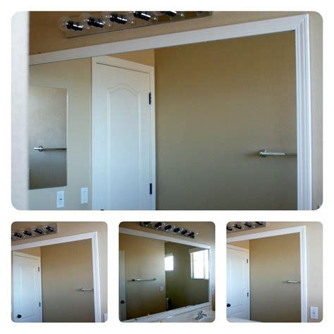 frame  bathroom mirror  plastic clips