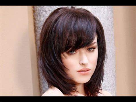shoulder length hairstyles  bangs  layers