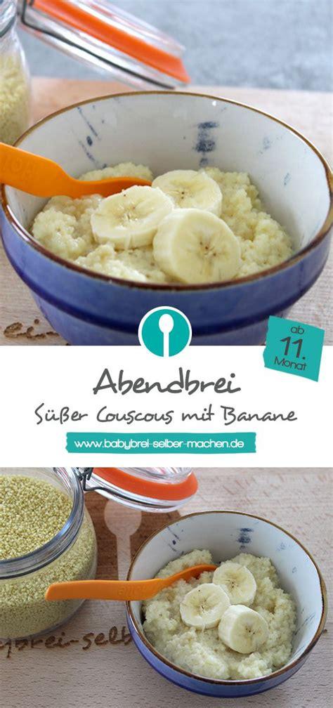 Babybrei Mit Süßem Couscous, Milch Und Banane Abendbrei