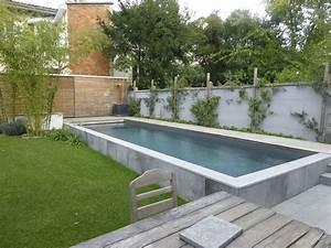 piscine semi enterree en beton plouf pinterest With modele de piscine en beton