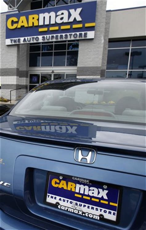carmax  profit rises   car sales maryland daily