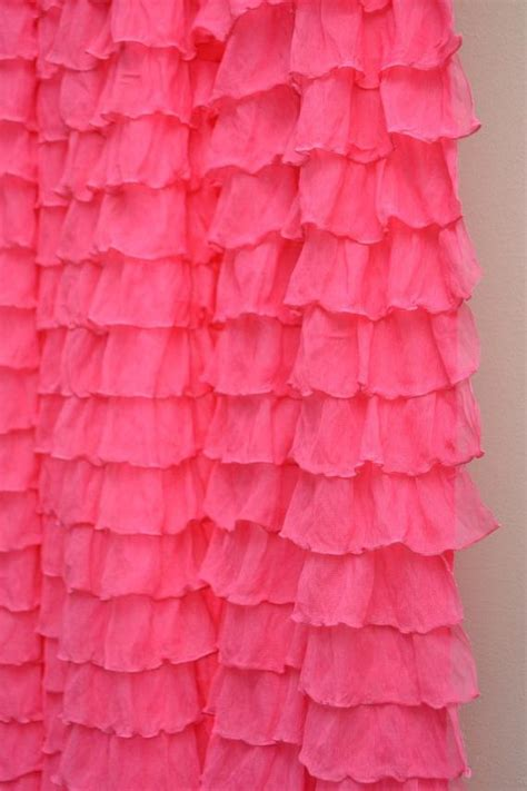 pink ruffle shower curtain items similar to pink ruffle shower curtain wide