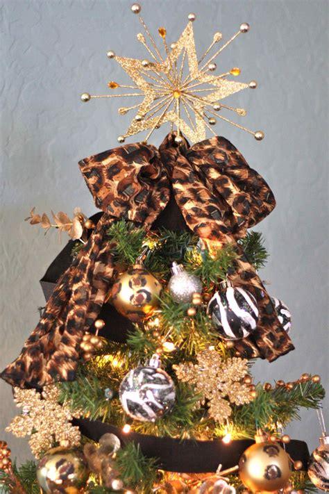 zebra  leopard diy christmas tree ornaments