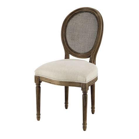 chaise médaillon maison du monde chaise médaillon cannée en et chêne massif grisé louis maisons du monde