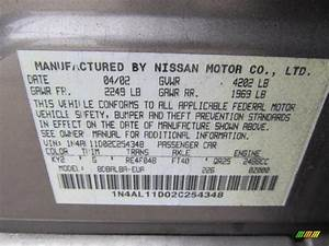 Nissan Altima Color Codes