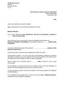 modèle lettre de commande fournitures lettre de r 233 siliation d un contrat de prestation de