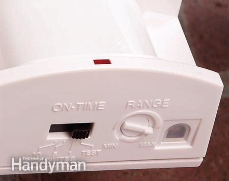 adjust motion detectors the family handyman