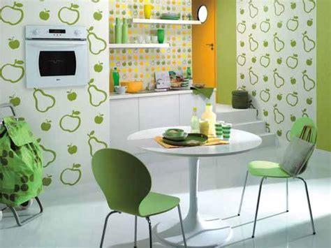 green wallpaper for kitchen رسومات جدران روعة للمطبخ المذهل المرسال 4046