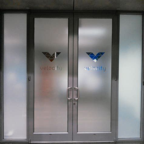 etched glass frosted glass glass logo