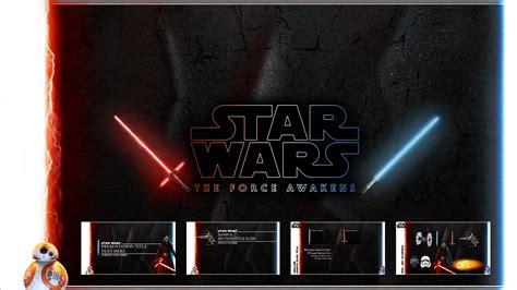 star wars  force awakens powerpoint template