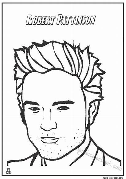 Famous Coloring Pages Robert Pattinson Colorings Printable