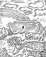 Flood Coloring Noah Getcolorings Printable sketch template