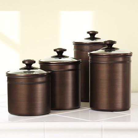 Kitchen Canister Sets Walmart by Canopy Bronze 4pc Canister Set Walmart