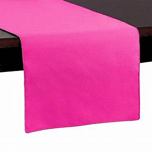 Buy Basic Polyester 54 Inch Table Runner in Neon Pink from