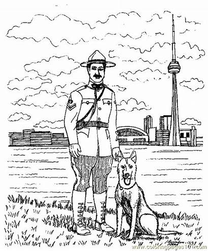 Coloring Pages Police Printable Jobs Dog Sheets