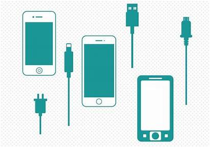 Charger Phone Vector Smart Svg Mobile Graphic