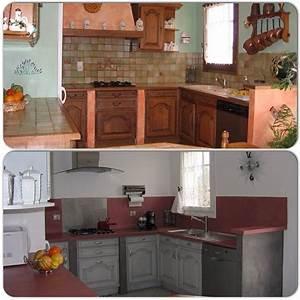 Relooking Cuisine : moderniser une cuisine en bois pascal mercier rnovation ~ Dode.kayakingforconservation.com Idées de Décoration