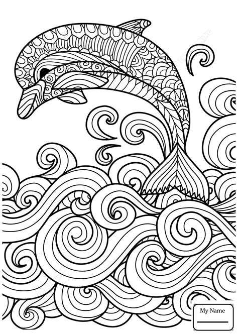 Tribal Dolphin Coloring Pages for Kids | Educative Printable | Fun Coloring Sheet | Dolphin
