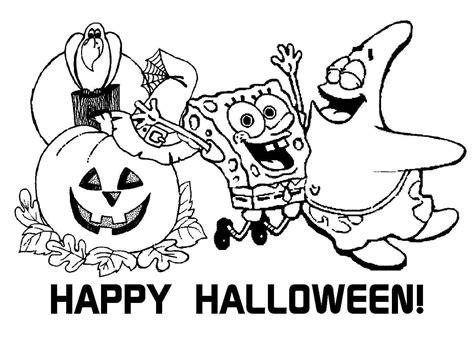 spongebob halloween coloring pages  printable spongebob squarepants halloween coloring
