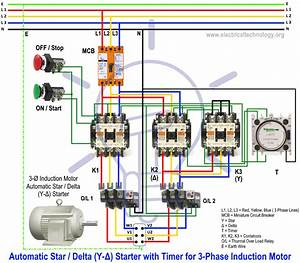 Schematic Diagram Star Delta Motor Control