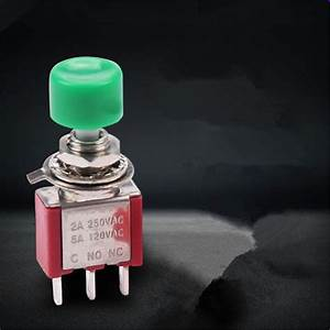 Momentary Red Knob Push Button On  Off Switch Spdt No