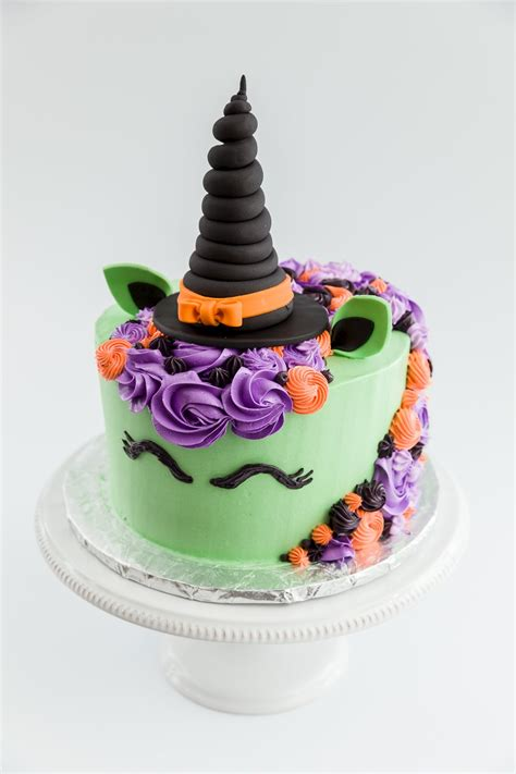 halloween witch unicorn cake cupcake project
