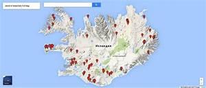 Waterfalls Iceland Map