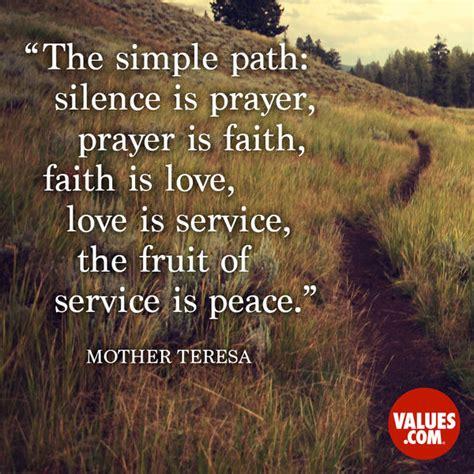 simple path silence  prayer prayer  faith