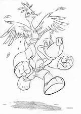 Banjo Coloring Kazooie Pages Sheets Colouring Result Birthday Results Bing sketch template