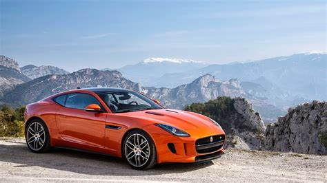 Jaguar F Type Coupe Orange Hd Wallpaper