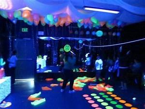 Black light/neon Birthday Party Ideas Photo 1 of 13