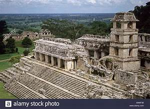 The Mayan civilization Palace at Palenque, Chiapas, Mexico ...