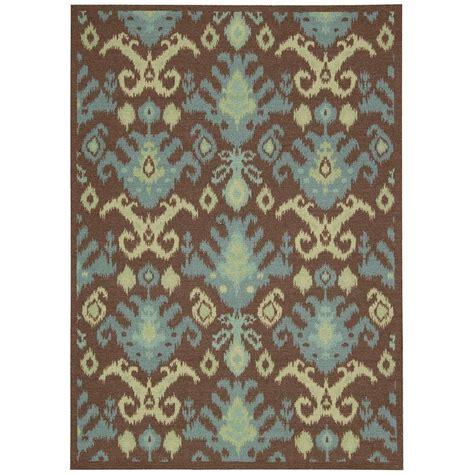 overstock runner rugs nourison overstock vista chocolate 5 ft x 7 ft area rug